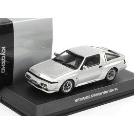 Kyosho Mitsubishi Starion 2600 GSR-VR 1988 zilver - Modelauto 1:43