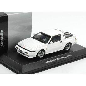 Kyosho Mitsubishi Starion 2600 GSR-VR 1988 wit - Modelauto 1:43