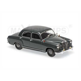 Maxichamps Mercedes Benz 180 1955 grijs - Modelauto 1:43