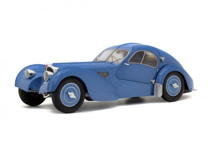 modellauto bugatti type 57sc atlantic blau metallic 1:18 | solido