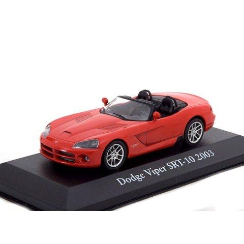 Dodge Viper SRT-10 2003 rood - Modelauto 1:43