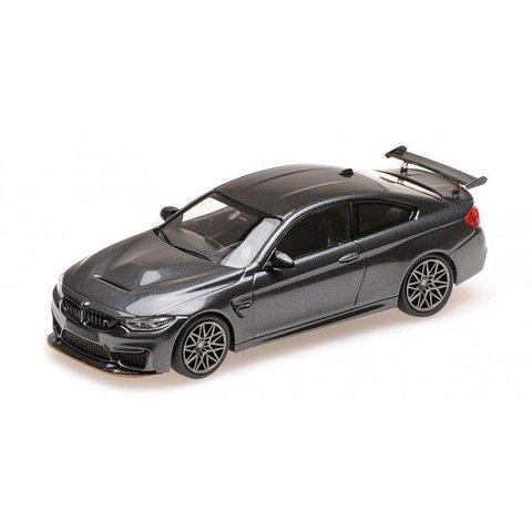 Modelauto BMW M4 GTS 2016 grijs metallic 1:43 | Minichamps