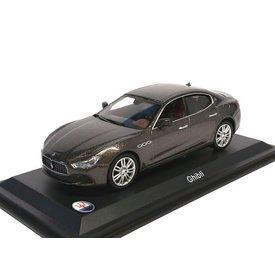 Leo Models Modellauto Maserati Ghibli grau metallic 1:43   Leo Models