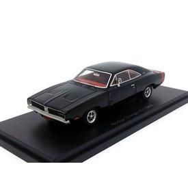 BoS Models Dodge Charger R/T 1969 zwart - Modelauto 1:43