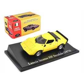 Atlas Lancia Stratos HF Stradale 1973 yellow - Model car 1:43