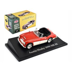 Atlas Austin Healey 3000 Mk III red/white - Model car 1:43