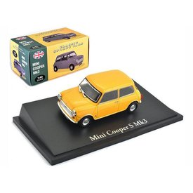 Atlas Mini Cooper S Mk III geel - Modelauto 1:43