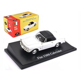Atlas Fiat 1500 Cabriolet white - Model car 1:43