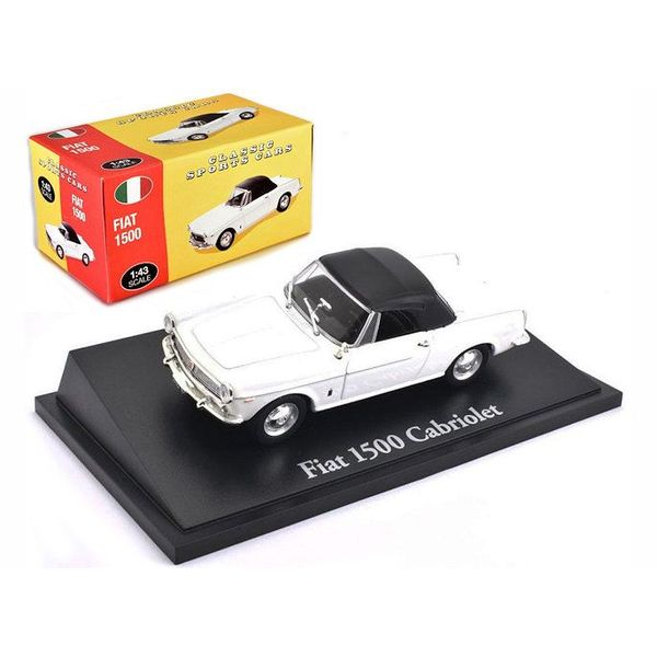 Model car Fiat 1500 Cabriolet white 1:43