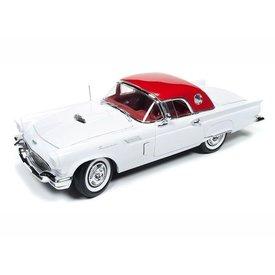 Ertl / Auto World Modelauto Ford Thunderbird 1957 wit 1:18 | Ertl / Auto World