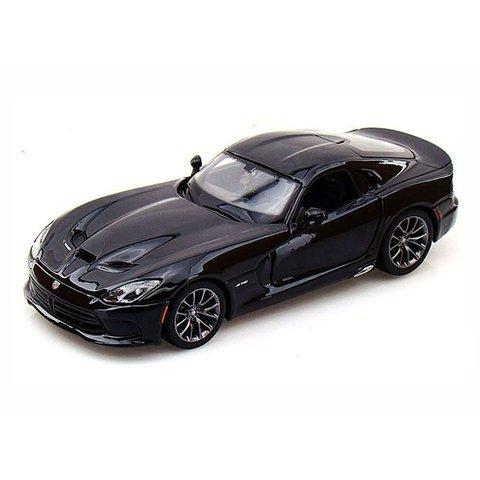 Dodge SRT Viper GTS 2013 zwart - Modelauto 1:24