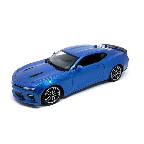 Chevrolet Camaro SS 2016 blauw metallic - Modelauto 1:18