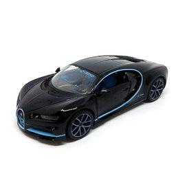 Maisto Bugatti Chiron Zero-400-Zero zwart - Modelauto 1:24