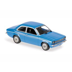Maxichamps Opel Kadett C 1974 blue - Model car 1:43