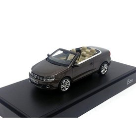 Kyosho Modelauto Volkswagen VW Eos 2011 bruin metallic 1:43 | Kyosho