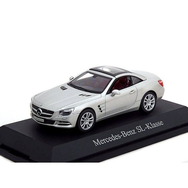 Modelauto Mercedes Benz SL (R231) 2011 zilver 1:43