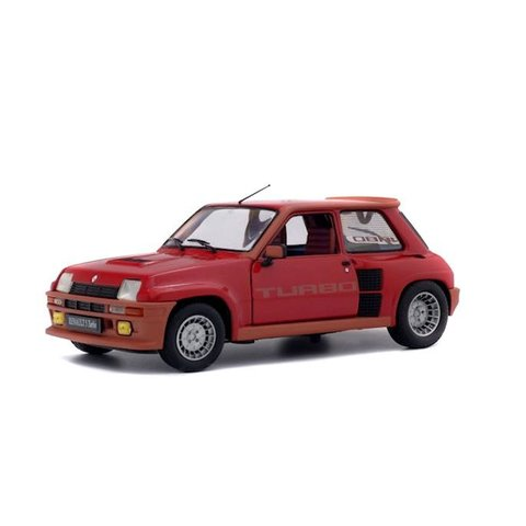 Renault 5 Turbo 1984 rood - Modelauto 1:18