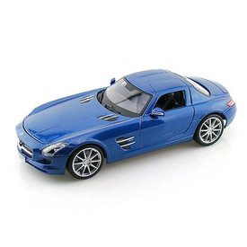 Maisto Modelauto Mercedes Benz SLS AMG 2009 blauw metallic 1:18   Maisto