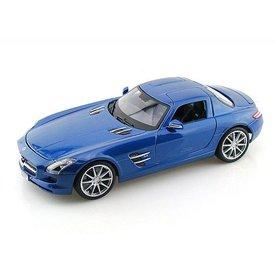 Maisto Modellauto Mercedes Benz SLS AMG 2009 blau metallic 1:18 | Maisto