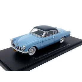 BoS Models Modelauto Studebaker Commander Starliner 1953 blauw/donkerblauw 1:43 | BoS Models