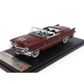 Premium X Cadillac Eldorado Biarritz 1956 bordeauxrood - Modelauto 1:43