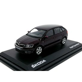 Abrex Skoda Rapid Spaceback 2014 brown metallic - Model car 1:43