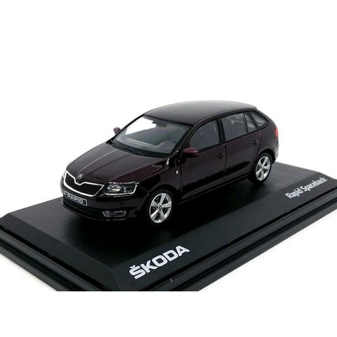 Skoda Rapid Spaceback 2014 bruin metallic - Modelauto 1:43