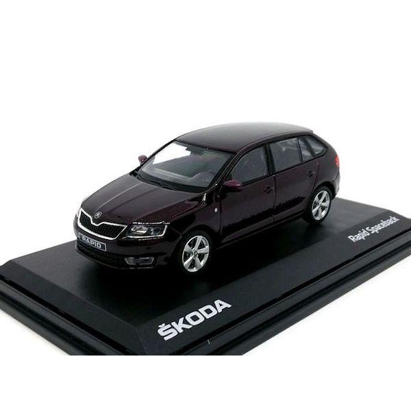 Modelauto Skoda Rapid Spaceback 2014 bruin metallic 1:43