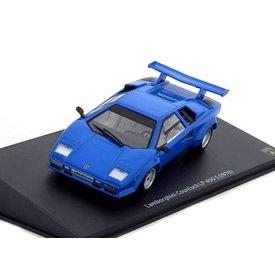 Leo Models Lamborghini Countach LP400 S 1978 blau -Modellauto 1:43