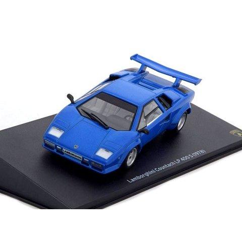 Lamborghini Countach LP400 S 1978 blauw - Modelauto 1:43