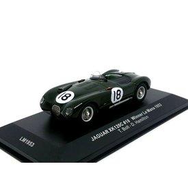 Ixo Models Jaguar XK120C No. 18 1953 dunkelgrün - Modellauto 1:43