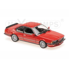 Maxichamps BMW 635 CSi (E24) 1982 rood - Modelauto 1:43