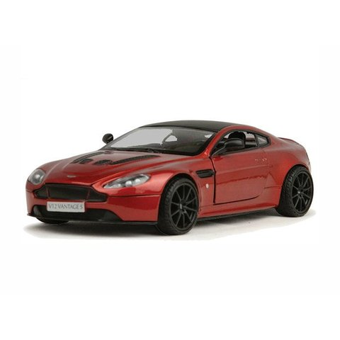 Modelauto Aston Martin V12 Vantage S rood metallic 1:24 | Motormax