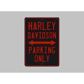 Parking sign Harley-Davidson 20x30 cm black / orange