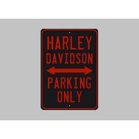 Parking sign Harley-Davidson 20x30 cm zwart / oranje