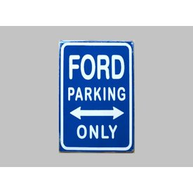 Parking Sign Ford 20x30 cm blauw / wit