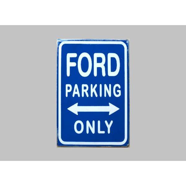 Parking Sign Ford 20x30 cm blau / weiß