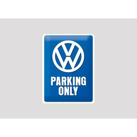 Parking sign VW 20x30 cm blauw / wit