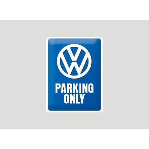 Parking sign VW 20x30 cm blue / white
