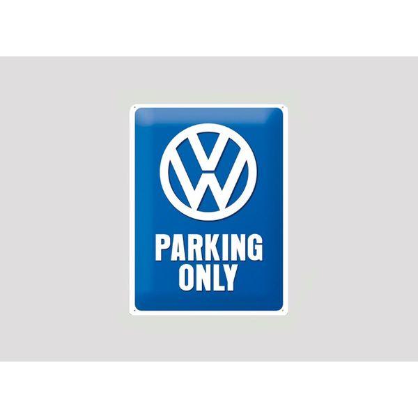 Parking sign VW 20x30 cm blauw / wit