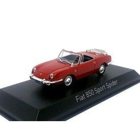 Norev Model car Fiat 850 Sport Spider 1968 red 1:43 | Norev