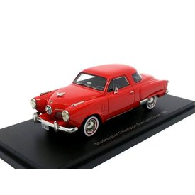 BoS Models (Best of Show) Studebaker Champion Starlight Coupe 1951 rood - Modelauto 1:43