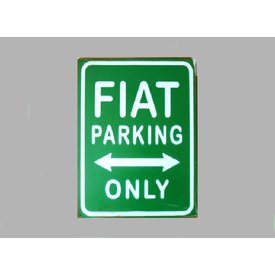 Parking Sign Fiat 20x30 cm groen / wit