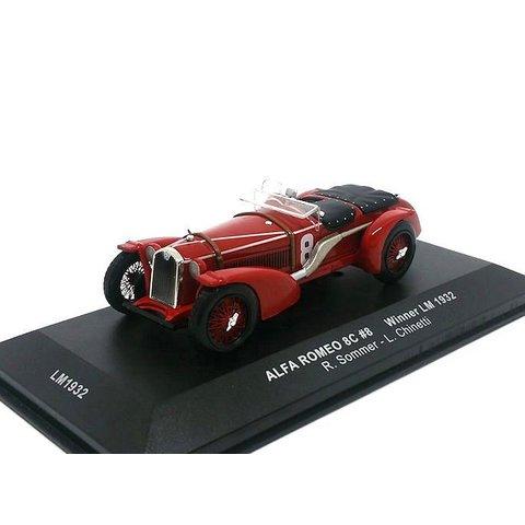 Alfa Romeo 8C No. 8 1932 rood - Modelauto 1:43