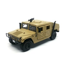Maisto AM General Humvee zandbruin - Modelauto 1:27