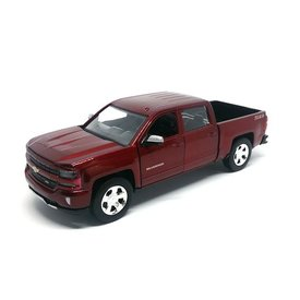 Motormax Chevrolet Silverado 1500 LT Z71 2017 dark red metallic - Model car 1:27