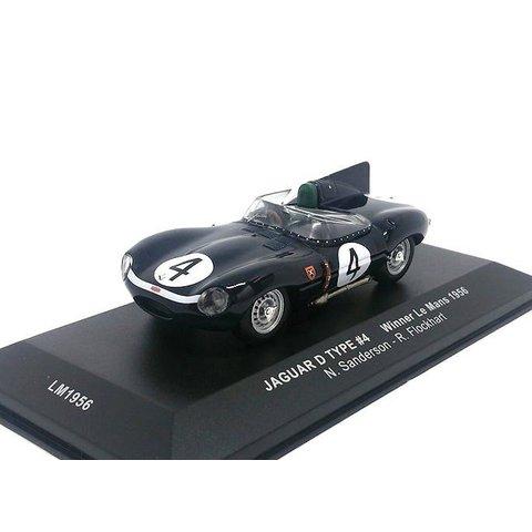 Jaguar D-type No. 4 1956 dunkelblau - Modellauto 1:43