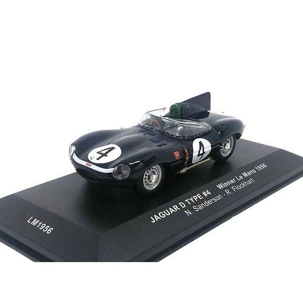 Modelauto Jaguar D-type No. 4 1956 donkerblauw 1:43