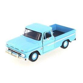 Motormax Chevrolet C10 Fleetside Pickup 1966 bright blue - Model car 1:24