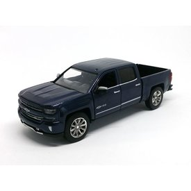 Motormax Chevrolet Silverado 2018 Centennial Edition blue metallic - Model car 1:27